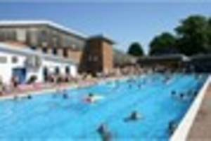 one of the uk's last open air pools to open in ashby for the bank...