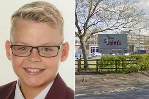 Boy, 12, dies after collapsing while playing football with pals after school