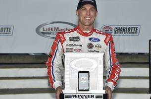 nascar community reacts to kevin harvick's pole performance at charlotte