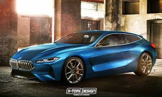 bmw 8 series shooting brake rendering is way better than the convertible