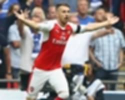 'ramsey clearly offside' - chelsea and fans livid that alexis sanchez's goal stands in fa cup final
