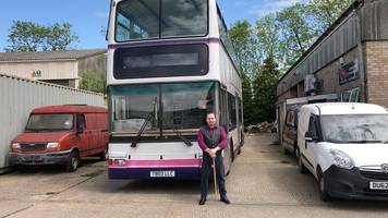 Double-decker bus home created for Cambridgeshire family