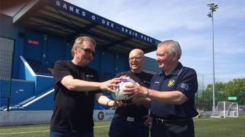 football washed up in norway returned to aberdeen