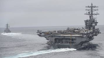 us deploys third aircraft carrier toward north korea