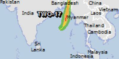 orange alert for tropical cyclone two-17. population affected by category 1 (120 km/h) wind speeds or higher is 0.