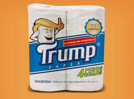 wipe your tushy with trump toilet paper made in mexico