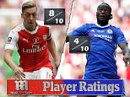 arsenal 2-1 chelsea player ratings: