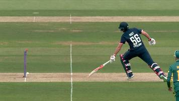 England v South Africa: Joe Root in bizarre run out