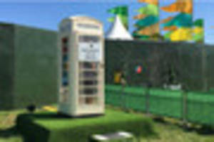 Radio 1 Big Weekend has a mystery cream phone box with a surprise...