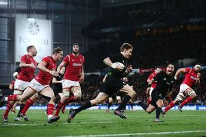 injury concerns over beauden barrett ahead of the lions test series as all blacks star is sidelined