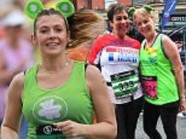 kym marsh leads corrie stars in great manchester run