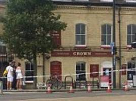 kent cyclist in hospital 'after row with motorcyclist'