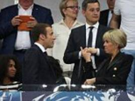 mrs macron joins emmanuel for french cup final in paris