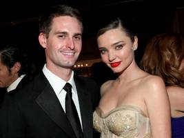Snap CEO Evan Spiegel and supermodel Miranda Kerr got married in an 'intimate affair' on Saturday (SNAP)