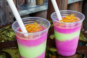 this crazy avatar drink is way better than the unicorn frappuccino