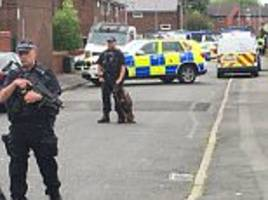 explosions heard in manchester's moss side as man arrested