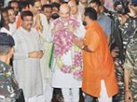 shah begins odisha-n odyssey as bjp make plans for state