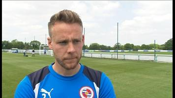 championship play-off final: chris gunter honoured to lead reading
