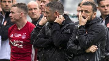 aberdeen boss derek mcinnes laments player exits after celtic defeat