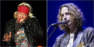 "guns n' roses pay tribute to soundgarden's chris cornell with ""black hole sun"""