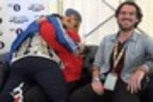 hilarious moment nick grimshaw crashes our big weekend interview...