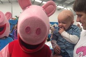 toddler who had cancerous brain tumour says his first words thanks to peppa pig