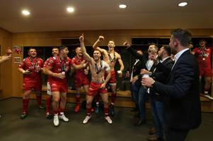 the changing room was absolutely bouncing, i've never seen anything like it - the players give their verdict on the scarlets' title glory