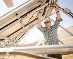 Installing solar to combat national security risks in the power grid