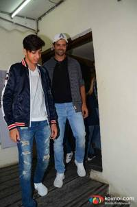 spotted: hrithik roshan & sussanne khan enjoy a movie outing with kids