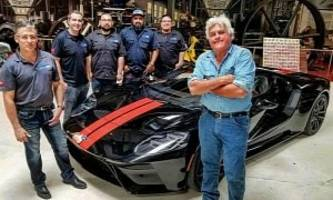 jay leno wraps his 2017 ford gt with protective film
