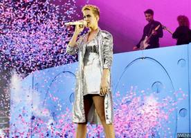Katy Perry Suffers Wardrobe Malfunction as She Flashes Her Underwear on Stage