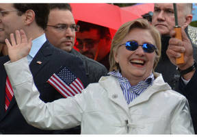 hillary clinton gets warm welcome at chappaqua memorial day parade