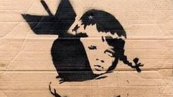 banksy cardboard protest placard up for auction