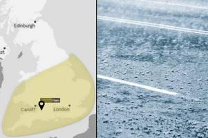 Met Office updates yellow weather warning for Somerset: Further showers expected