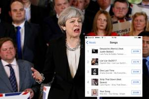 Twitter reacts to hilarious Theresa May song 'Liar' reaching number two in the charts