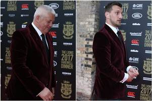 wales stars sam warburton, ken owens and rhys webb help lead rousing lions rendition of irish rugby song 'the fields of athenry'