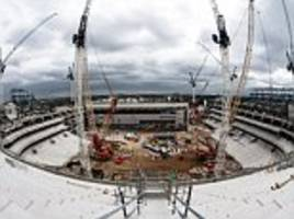 spurs share picture from the top tier of their new stadium