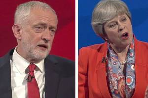 election debate verdict: strained theresa may's authority dented in live tv showdown with relaxed jeremy corbyn