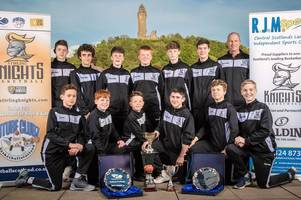 stirling knights basketball team cap perfect season by winning fourth trophy of campaign
