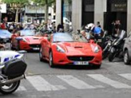french police seize almost £1m worth of supercars in paris