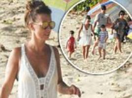 coleen rooney joins her family on the beach in barbados