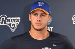 rams coach says jared goff is starting qb 'right now,' leaves door open for change