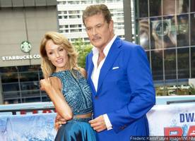david hasselhoff's much younger fiancee grabs his butt on red carpet
