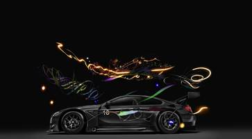 new bmw m6 gt3 art car runs on speed and vr imagination
