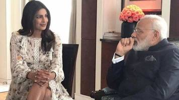 priyanka chopra attacked for 'showing legs' to india pm modi