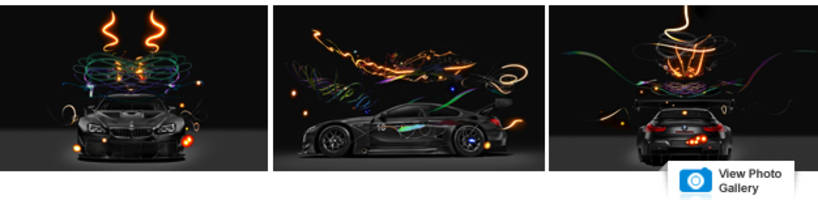 bmw m6 gt3 art car exists in a digital alternate reality