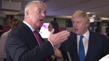boris johnson and labour's ian lavery have heated debate