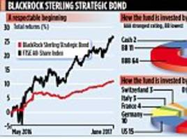 blackrock sterling strategic bond has returned almost 11%