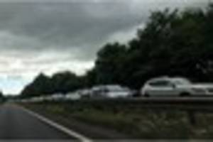 Traffic delays after A380 closed due to serious accident - live...