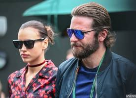 bradley cooper and irina shayk seen with newborn daughter for the first time